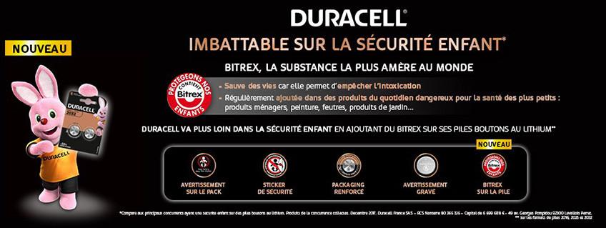 Un nouveau cran de sécurité pour les piles boutons Duracell