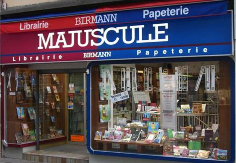 Librairie papeterie birmann majuscule for Papeterie bureau plus