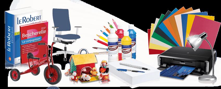 Papeterie, fournitures de bureau, fournitures scolaires et petite enfance