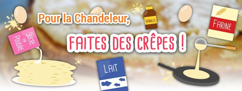 Pour la Chandeleur, faites des crêpes !