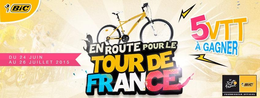 En route pour le Tour de France avec Bic