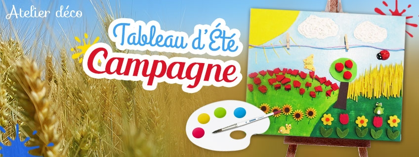 Tableau d'Été Campagne