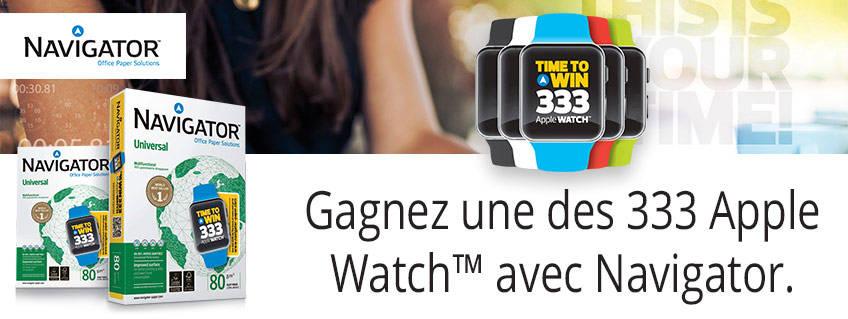 Gagnez une des 333 Apple Watch™ avec Navigator