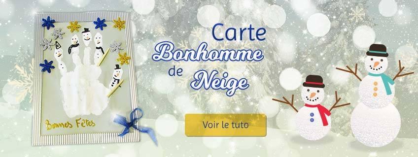 Souhaitez de bonnes fêtes avec une carte Bonhomme de Neige !