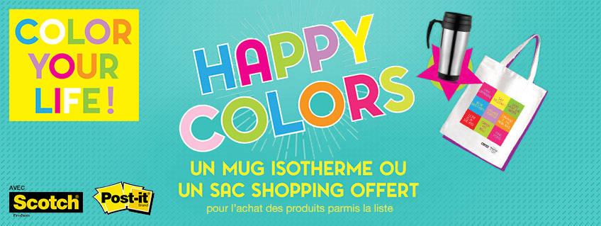 Les jours Happy colors avec Scotch® et Post-it®