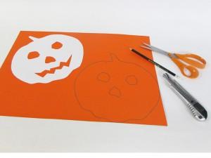 Masque de citrouille Halloween étape 1-1