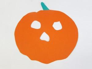 Masque de citrouille Halloween étape 1-2