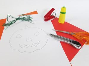 Masque de citrouille Halloween matériel