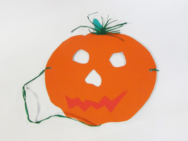 Masque de citrouille Halloween résultat final