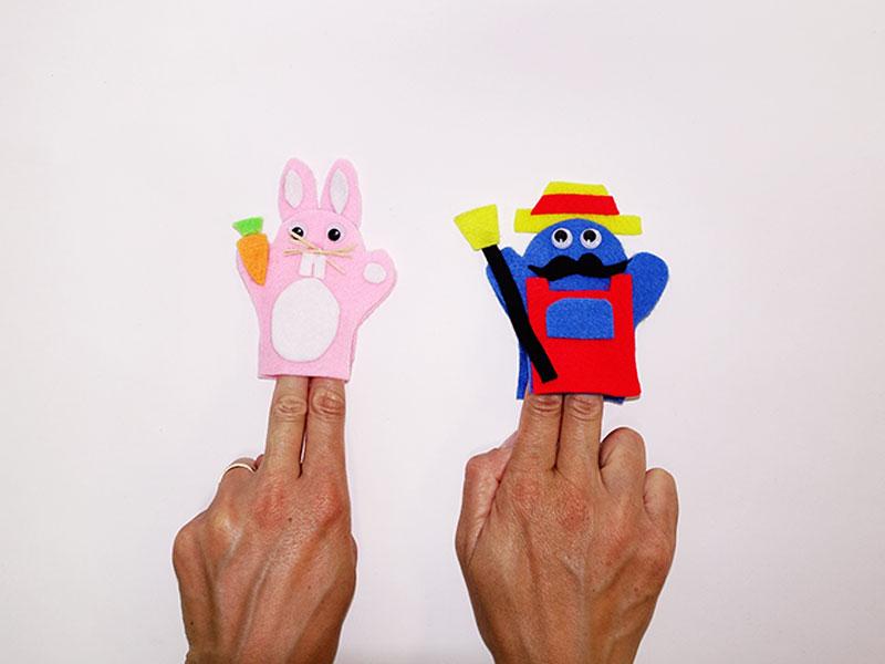 Marionnettes à doigts : résultat final