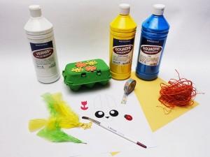 Boîte à œufs décorée : matériel