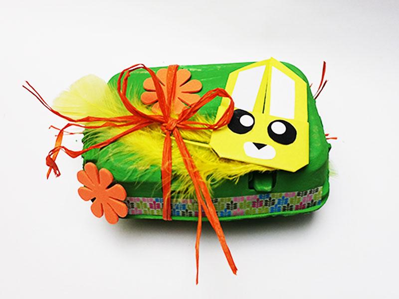 Boîte à œufs décorée : résultat final