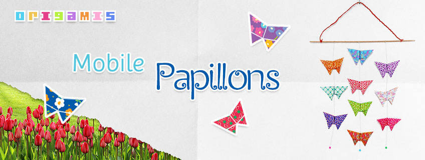 Mobile Papillons Origamis