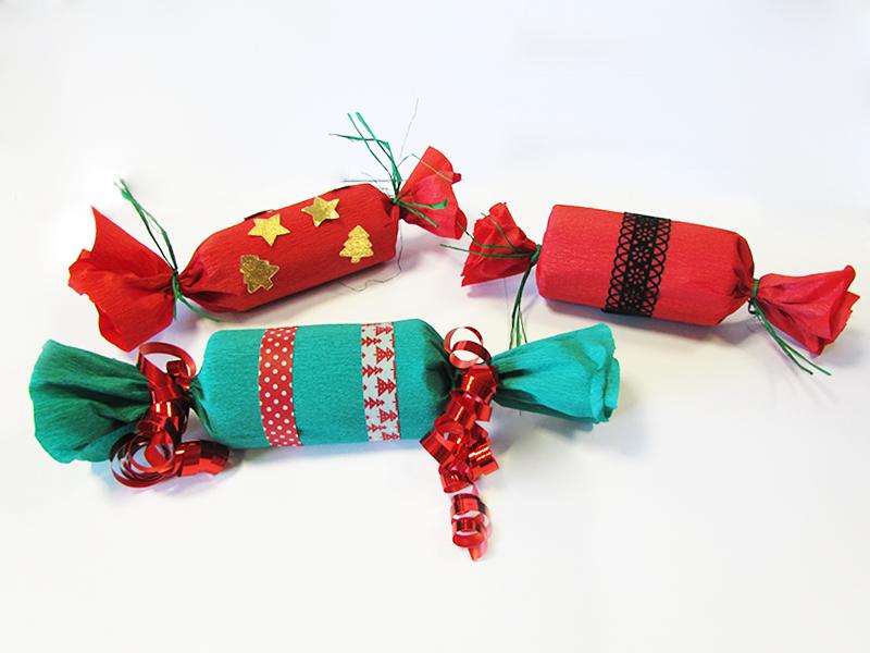 Bonbons surprises de Noël : résultat final